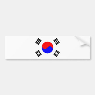 south korea country flag nation symbol bumper sticker