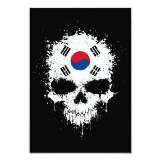 South Korea Dripping Splatter Skull 9 Cm X 13 Cm Invitation Card