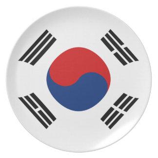 South Korea Fisheye Flag Plate
