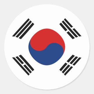South Korea Fisheye Flag Sticker