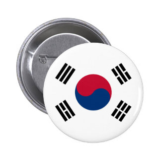 South Korea Flag 6 Cm Round Badge