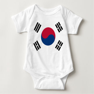 South Korea Flag Baby Bodysuit