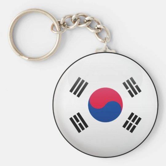 South Korea Flag Basic Round Button Key Ring