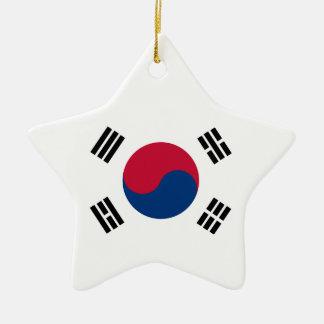 South Korea Flag Ceramic Star Decoration