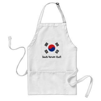 South Korea flag chef apron