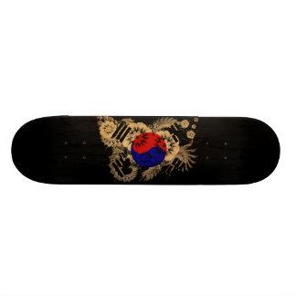 South Korea Flag Custom Skateboard