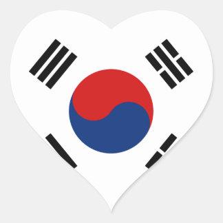 South Korea Flag Heart Sticker