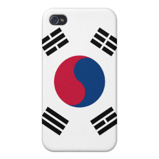 South Korea Flag iPhone Cover For iPhone 4