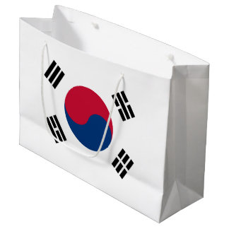 South Korea Flag Large Gift Bag