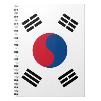 South Korea Flag Notebook