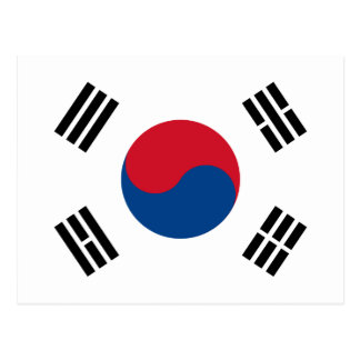 South Korea Flag Postcard