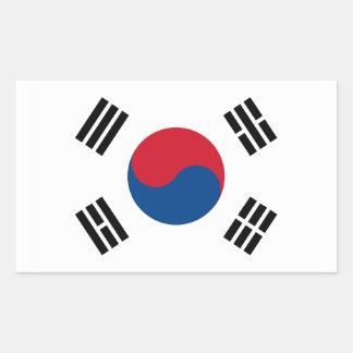 South Korea Flag Rectangular Sticker