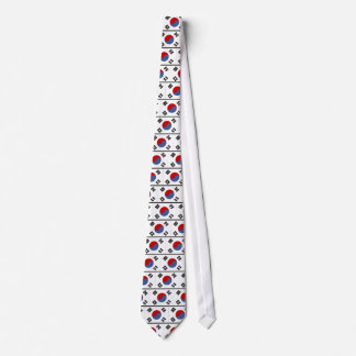 South Korea Flag Tie