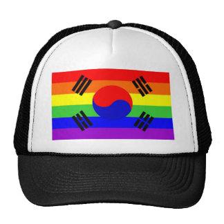 south korea gay proud rainbow flag homosexual cap