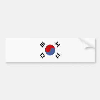 South Korea High quality Flag Bumper Sticker