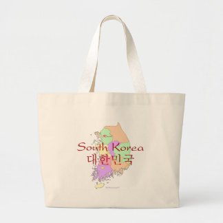 South Korea Map Large Tote Bag