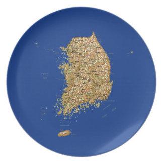 South Korea Map Plate