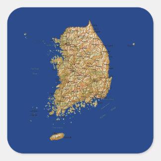 South Korea Map Sticker