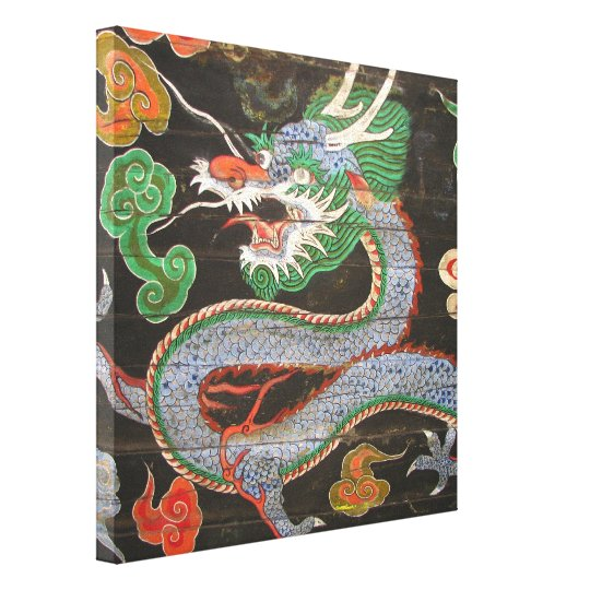 South Korea Namdaemun Sungnyemun Dragon Canvas Print
