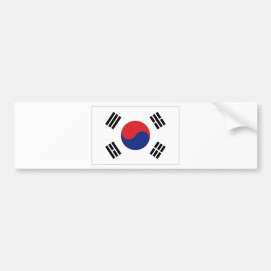 South Korea National Flag Bumper Sticker
