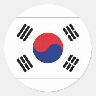 South Korea National Flag Classic Round Sticker