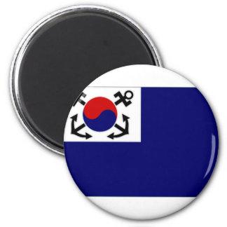 South Korea Naval Jack 6 Cm Round Magnet