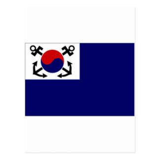 South Korea Naval Jack Postcard