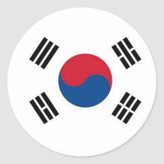 South Korea Round (not for external use) Round Sticker
