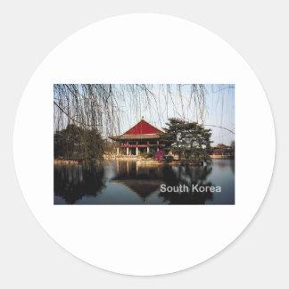 South Korea Round Sticker