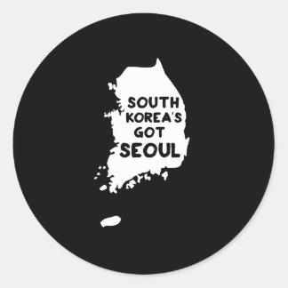 South Korea's Got Seoul Classic Round Sticker