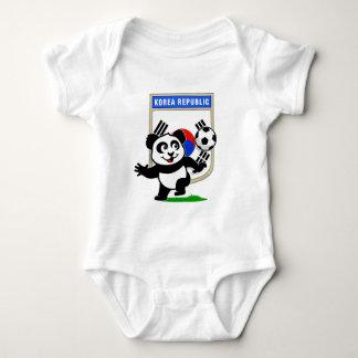 South Korea Soccer Panda Baby Bodysuit