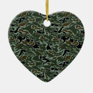 South Korea Swirl CAMO Ceramic Heart Decoration