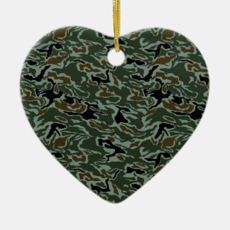 South Korea Swirl CAMO Christmas Ornament