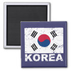 South Korea Vintage Flag Magnet