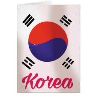 South Korea Vintage travel poster Card