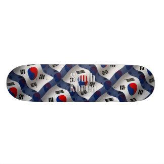 South Korea Waving Flag 19.7 Cm Skateboard Deck