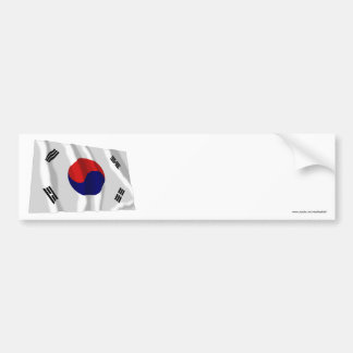 South Korea Waving Flag Bumper Sticker