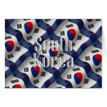 South Korea Waving Flag Greeting Card