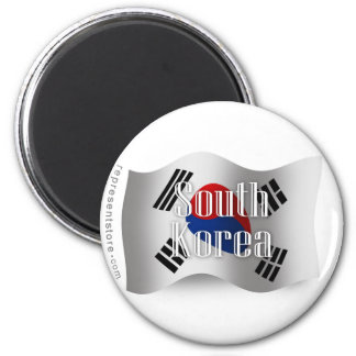 South Korea Waving Flag Magnet