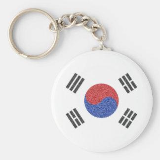 South Korean Flag Basic Round Button Key Ring