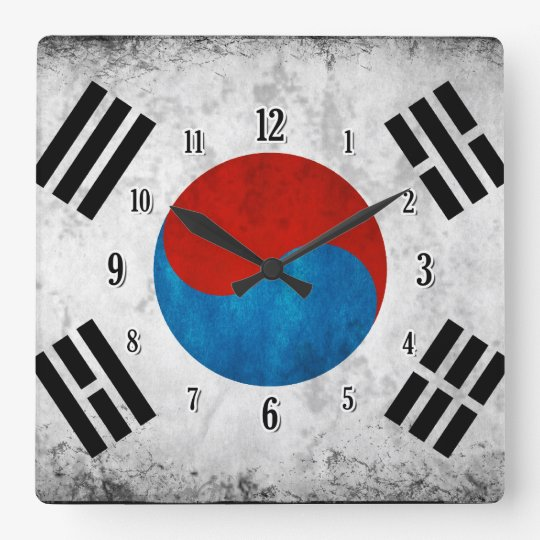South Korean Flag Clock