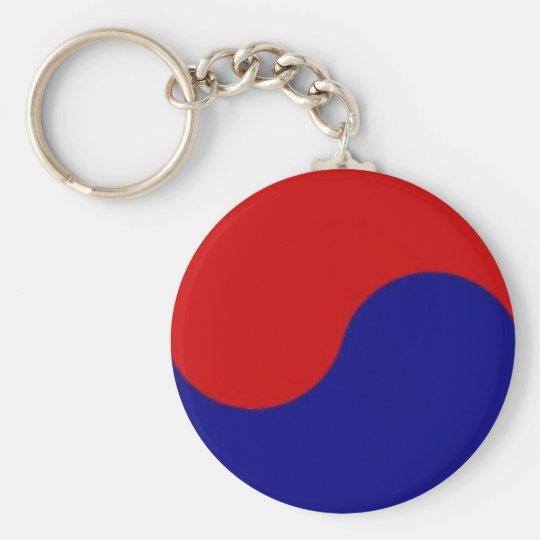 South Korean flag detail yin yang key chain