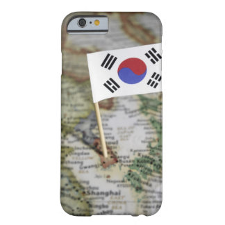 South Korean flag in map Barely There iPhone 6 Case