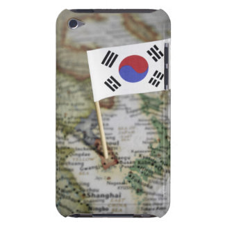 South Korean flag in map Barely There iPod Case