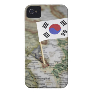 South Korean flag in map iPhone 4 Covers