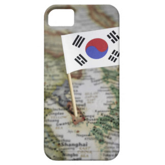 South Korean flag in map iPhone 5 Case