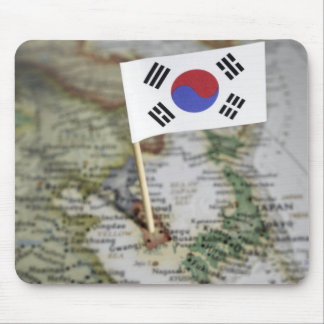 South Korean flag in map Mouse Pad