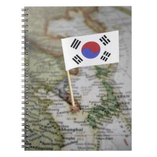 South Korean flag in map Notebooks