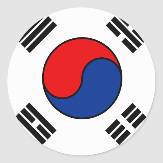 South Korean Flag T-shirts and Gifts Classic Round Sticker