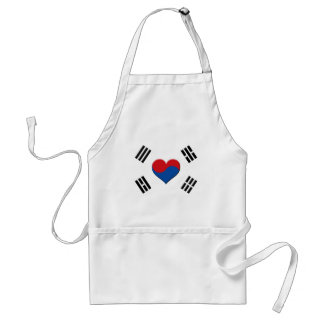South Korean Heart Standard Apron